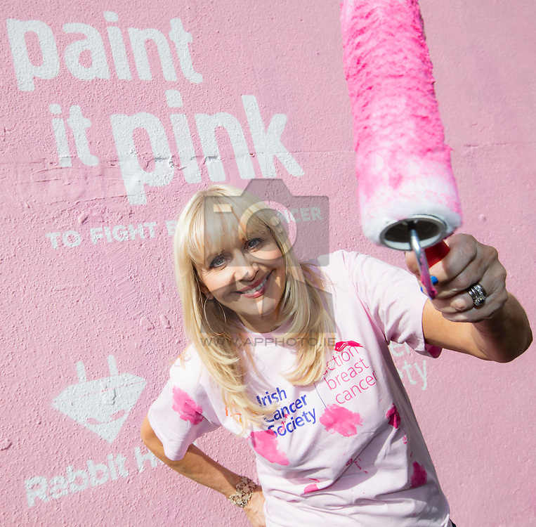 Repro Free: 30/09/2015 RTE's Miriam O'Callaghan who lost her sister to cancer heps Paint it Pink for the Irish Cancer Society to fight breast cancer this Breast Cancer Awareness Month. To join the fight against breast cancer this October visit www.paintitpink.ie for information on how to get involved. Picture Andres Poveda<br /> <br /> ENDS<br /> For further info contact:<br /> Donna Parsons Communications Officer <br /> Irish Cancer Society<br /> T: +353 1 2310 573<br /> E: dparsons@irishcancer.ie