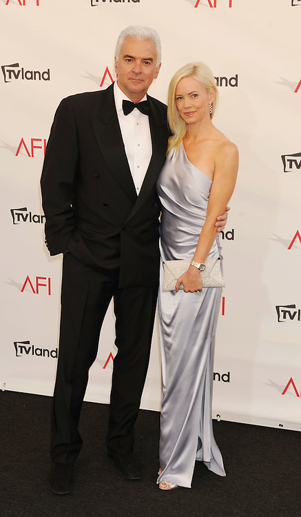 LOS ANGELES, CA - JUNE 07: John O'Hurley and Lisa Mesloh  arrive at the 40th AFI Life Achievement Award honoring Shirley MacLaine at Sony Pictures Studios on June 7, 2012 in Los Angeles, California.