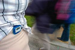 Using a pedometer whilst walking UK