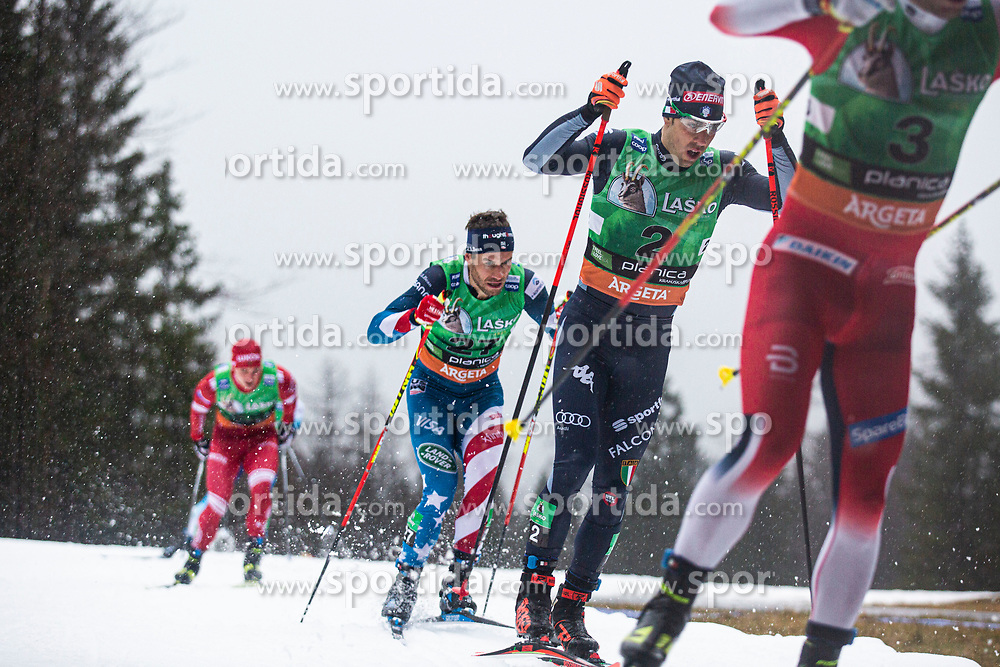 Federico PELLEGRINO (ITA), Simeon HAMILTON (USA)  during the man team sprint race at FIS Cross Country World Cup Planica 2019, on December 1, 2019 at Planica, Slovenia. Photo By Peter Podobnik / Sportida