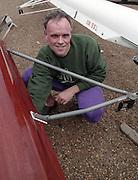 """Putney. London. GREAT BRITAIN;  NED LM1X. Frans GOEBEL.<br /> <br /> 1995 Thames World Sculling Championships, Putney to Mortlake. Championship Course, River Thames.<br /> <br /> [Mandatory Credit; """"Photo, Peter Spurrier/Intersport-images]"""