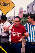 """""""Operation Rescue"""" supporters demonstrate outside of Atlanta, GA abortion clinics."""