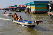 Chhnok Tru, floating village, Tonle Sap Lake, Cambodia