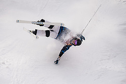 February 9, 2018 - Pyeongchang, South Korea - 180209 Jussi Penttala of Finland crashes when competing in the Men's Moguls Qualification during the 2018 Winter Olympics on February 9, 2018 in Pyeongchang..Photo: Petter Arvidson / BILDBYRÃ…N / kod PA / 91956 (Credit Image: © Petter Arvidson/Bildbyran via ZUMA Press)