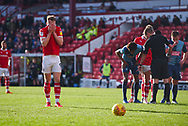 Cauley Woodrow of Barnsley (9) sets himself to take the penalty during the EFL Sky Bet League 1 match between Barnsley and Wycombe Wanderers at Oakwell, Barnsley, England on 16 February 2019.