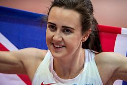 05-03-2017  SRB: European Athletics Championships indoor day 3, Belgrade<br /> Laura Muir, de Schotse bewees in Belgrado op dit moment een van de beste Europese loopsters te zijn op de middenafstand. Ze pakte goud op de 3000 meter