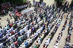 August 22, 2017 - Dhaka, Bangladesh - Bangladeshi people attend at the funeral prayer of Bangladeshi silver screen icon and legendary actor Razzak at Bangladesh Film Development Corporation (BFDC) in Dhaka, Bangladesh, August 22, 2017. (Credit Image: © Suvra Kanti Das via ZUMA Wire)
