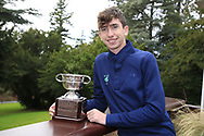 Tom McKibbin winner of the junior Bridgestone Order of Merit pictured at the presentations in the GUI National Academy, Maynooth, Kildare, Ireland. 30/11/2019.<br /> Picture Fran Caffrey / Golffile.ie<br /> <br /> All photo usage must carry mandatory copyright credit (© Golffile | Fran Caffrey)