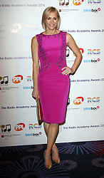 JENNI FALCONER arrives for the Radio Academy Awards, London, United Kingdom. Monday, 12th May 2014. Picture by i-Images