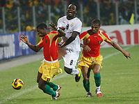 Photo: Steve Bond/Richard Lane Photography.<br />Ghana v Guinea. Africa Cup of Nations. 20/01/2008. Michael Essien (C) is sandwiched