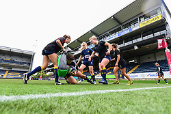 Worcester Valkyries running drills during the pre match warm up - Mandatory by-line: Craig Thomas/JMP - 30/09/2017 - RUGBY - Sixways Stadium - Worcester, England - Worcester Valkyries v Saracens Women - Tyrrells Premier 15s