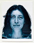 1990s ID style head shot photo of an adult woman