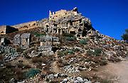 Rock tombs at the Lycian city of Tlos, Turkey