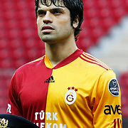 Galatasaray's Gokhan ZAN during their Turkish superleague soccer derby match Galatasaray between Trabzonspor at the TT Arena in Istanbul Turkey on Sunday, 10 April 2011. Photo by TURKPIX
