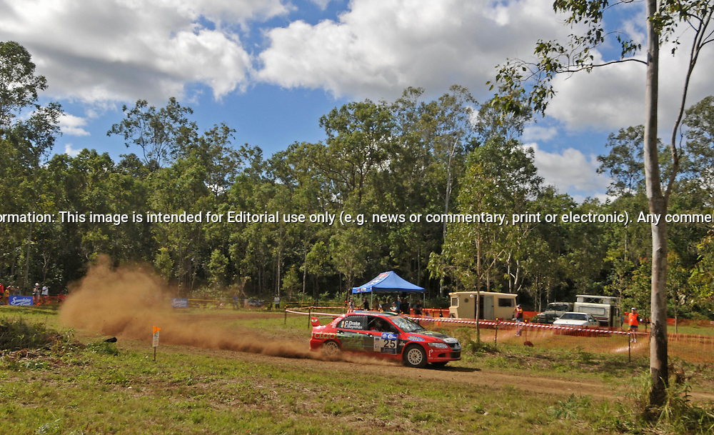 Charlie DRAKE & Eoin MOYNIHAN - Mitsubishi Lancer Evo 8.Heat 1.Red Devil Energy Drink Rally of Queensland.Sunshine Coast, QLD.9th of May 2009.(C) Joel Strickland Photographics.Use information: This image is intended for Editorial use only (e.g. news or commentary, print or electronic). Any commercial or promotional use requires additional clearance.