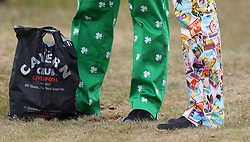 Detail of the trousers of USA's John Daly (left) and caddie during day one of The Open Championship 2017 at Royal Birkdale Golf Club, Southport.