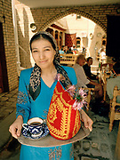 "Portrait in a Chai Khana, a ""tea house"" in Bukhara. Through the ancient cities of the old Silk Road. Ubekistan. june 2006."