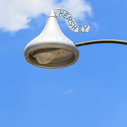 Hershey, PA, USA - June 19, 2013: A street light in downtown Hershey PA