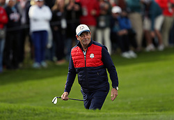 USA's Huey Lewis during a celebrity golf match ahead of the 41st Ryder Cup at Hazeltine National Golf Club in Chaska, Minnesota, USA. PRESS ASSOCIATION Photo. Picture date: Tuesday September 27, 2016. See PA story GOLF Ryder. Photo credit should read: David Davies/PA Wire. RESTRICTIONS: Use subject to restrictions. Editorial use only. No commercial use. Call +44 (0)1158 447447 for further information.