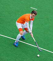 BLOEMENDAAL  - Yannick  van der Drift (Bl'daal)  tijdens de oefenwedstrijd Bloemendaal-Den Bosch (m) .  COPYRIGHT KOEN SUYK