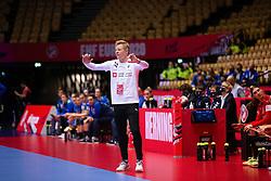 HERNING, DENMARK - DECEMBER 4: Jesper Jensen during the EHF Euro 2020 Group A match between Denmark and Slovenia in Jyske Bank Boxen, Herning, Denmark on December 4, 2020. Photo Credit: Allan Jensen/EVENTMEDIA.