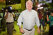 Aug. 23, PHOENIX, AZ: US Senator JOHN McCAIN walks into a campaign rally at his Phoenix, AZ, campaign office Monday. US Sen. John McCain held the final of his primary election campaign at his campaign offices in Phoenix Monday. McCain, Arizona's senior Republican US Senator, is facing former Congressman JD Hayworth in the primary, Tuesday, Aug. 24. McCain has outspent Hayworth by a considerable margin and is expected to win.   Photo by Jack Kurtz