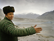 Pir Shah Ismail is the spiritual leader of Wakhis in the Wakhan Corridor. He lives in Qala-e-Pinja. Visiting the ruins of the old fort.