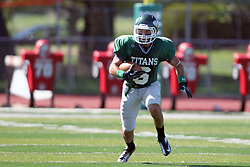 08 September 2012:  Joe Musso during an NCAA division 3 football game between the Alma Scots and the Illinois Wesleyan Titans which the Titans won 53 - 7 in Tucci Stadium on Wilder Field, Bloomington IL
