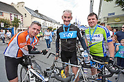 Douglas Hurley,Ambrose Heagney and Fintan Lahiffe,Corofin at the Etap Hibernia Skyride on Sunday. Photograph by Eamon Ward
