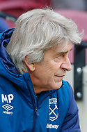 West Ham United manager Manuel Pellegrini during the The FA Cup 3rd round match between West Ham United and Birmingham City at the London Stadium, London, England on 5 January 2019.
