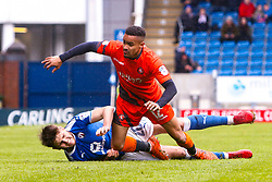 Laurence Maguire of Chesterfield brings down Paris Cowan-Hall of Wycombe Wanderers - Mandatory by-line: Ryan Crockett/JMP - 28/04/2018 - FOOTBALL - Proact Stadium - Chesterfield, England - Chesterfield v Wycombe Wanderers - Sky Bet League Two