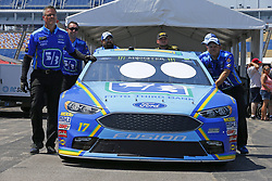 July 13, 2018 - Sparta, Kentucky, United States of America - The car of Ricky Stenhouse, Jr (17) goes through technical inspection following practice for the Quaker State 400 at Kentucky Speedway in Sparta, Kentucky. (Credit Image: © Chris Owens Asp Inc/ASP via ZUMA Wire)