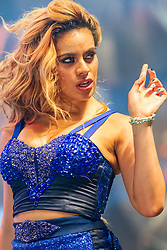 COSTA MESA, CA - AUG 8: American pop girl group Fifth Harmony ( Ally Brooke Hernandez, Normani Kordei, Dinah Jane Hansen, Camila Cabello and Lauren Jauregu ) performed to a packed Pacific Amphitheater during the Orange County Fair on 8th of August, 2015 in Costa Mesa, California. Byline, credit, TV usage, web usage or linkback must read SILVEXPHOTO.COM. Failure to byline correctly will incur double the agreed fee. Tel: +1 714 504 6870.