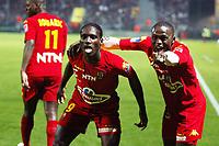Fotball<br /> Frankrike<br /> Foto: Dppi/Digitalsport<br /> NORWAY ONLY<br /> <br /> FOOTBALL - FRENCH CHAMPIONSHIP 2006/2007 - LEAGUE 1 - LE MANS UC v AS SAINT ETIENNE - 10/03/2007 - JOY ISMAEL BANGOURA / IBRAHIMA CAMARA (MANS) AFTER THE BANGOURA'S GOAL