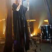 WASHINGTON, D.C. - May 15th, 2011: Swedish pop chanteuse Lykke Li performs at the 9:30 Club in Washington, D.C. She released her sophomore album, Wounded Rhymes, earlier this year. (Photo by Kyle Gustafson/For The Washington Post)