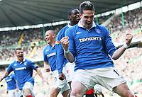 Football - Scottish Premier League - Celtic vs. Rangers<br />  <br /> Kyle Lafferty celebrates Kenny Millers first goal during the Scottish Premier League match , Celtic against Rangers, Celtic Park