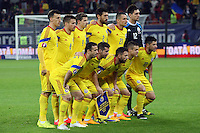 ROMANIA, Bucharest : Romania's players before the Euro 2016 Group F qualifying football match Romania vs Northern Ireland in Bucharest, Romania on November 14, 2014.
