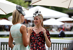 Racegoers during day one of Royal Ascot at Ascot Racecourse.