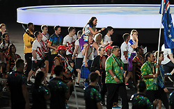 Members of Team Scotland (centre) during the Closing Ceremony for the 2018 Commonwealth Games at the Carrara Stadium in the Gold Coast, Australia.