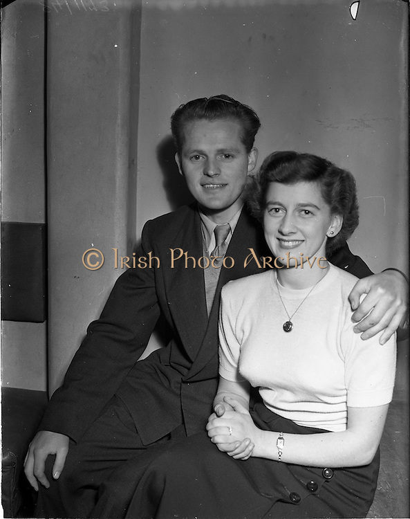 12/11/1952<br /> 11/12/1952<br /> 12 November 1952<br /> Jack Fitzgerald, (Waterford F.A.I.) engagement to Miss A. Phillips at The Swiss chalet Merrion Row, Dublin
