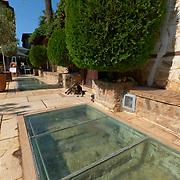 Stones of the old Roman city wall in Antalya, Turkey