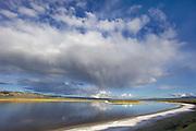 Rain Cloud over Soda Lake,Carrizo Plain National Monument, California