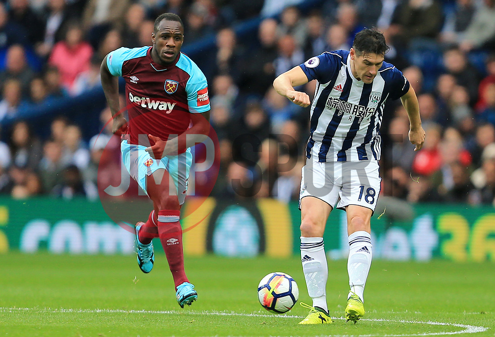 Gareth Barry of West Bromwich Albion sprays a pass wide - Mandatory by-line: Paul Roberts/JMP - 16/09/2017 - FOOTBALL - The Hawthorns - West Bromwich, England - West Bromwich Albion v West Ham United - Premier League