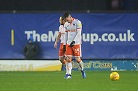 Blackpool's Jordan Thompson looks dejected after Oxford United's Marcus Browne (not in picture) scores his side's first goal  <br /> <br /> Photographer Kevin Barnes/CameraSport<br /> <br /> The EFL Sky Bet League One - Oxford United v Blackpool - Saturday 15th December 2018 - Kassam Stadium - Oxford<br /> <br /> World Copyright © 2018 CameraSport. All rights reserved. 43 Linden Ave. Countesthorpe. Leicester. England. LE8 5PG - Tel: +44 (0) 116 277 4147 - admin@camerasport.com - www.camerasport.com