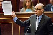 Cristobal Montoro, ministry of treasury speaks to congressman