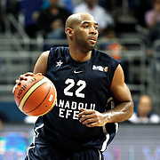 Anadolu Efes's Alfred Jamon Lucas during their Turkish Basketball league derby match Fenerbahce Ulker between Anadolu Efes at the Ulker Sports Arena in Istanbul, Turkey, Monday, April 29, 2013. Photo by Aykut AKICI/TURKPIX