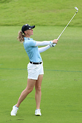 March 2, 2019 - Singapore - Amy Olson of the United States plays plays a shot on the 9th hole during the third round of the Women's World Championship at the Tanjong Course, Sentosa Golf Club. (Credit Image: © Paul Miller/ZUMA Wire)
