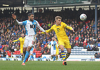 Blackburn Rovers Dominic Samuel in action with Swansea City's Jake Bidwell <br /> <br /> Photographer Mick Walker/CameraSport<br /> <br /> The EFL Sky Bet Championship - Blackburn Rovers v Swansea City - Saturday 29th February 2020 - Ewood Park - Blackburn<br /> <br /> World Copyright © 2020 CameraSport. All rights reserved. 43 Linden Ave. Countesthorpe. Leicester. England. LE8 5PG - Tel: +44 (0) 116 277 4147 - admin@camerasport.com - www.camerasport.com