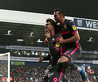 Leeds United's Patrick Bamford celebrates scoring his side's equalising goal to make the score 1-1 with team-mate Jack Harrison<br /> <br /> Photographer Stephen White/CameraSport<br /> <br /> The EFL Sky Bet Championship - West Bromwich Albion v Leeds United - Wednesday 1st January 2020 - The Hawthorns - West Bromwich <br /> <br /> World Copyright © 2020 CameraSport. All rights reserved. 43 Linden Ave. Countesthorpe. Leicester. England. LE8 5PG - Tel: +44 (0) 116 277 4147 - admin@camerasport.com - www.camerasport.com