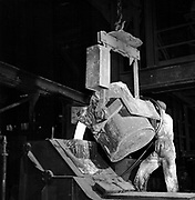 European Recovery Act, known as The Marshall Plan, the United States' programme for the rebuilding of Europe after World War II and to stop the spread of Communism. Beginning in 1947, the plan lasted for four years.  Pouring molten steel from a ladle: Roy